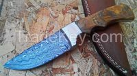 CUSTOM Made Folding Damascus Knife