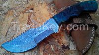 Damascus Carbon Steel Hunting / Chef knife with Deer Horn handle