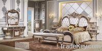 European luxury 7pcs bedroom furniture sets