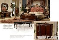 European luxury 7pcs bedroom furniture sets