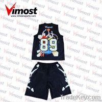 Custom sublimation print basketball wears/tops