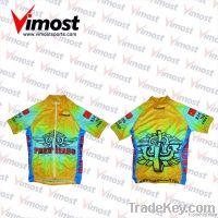 Custom 100 % polyester sub-cycling jersey