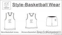dye-sub basketball top/100% polyester/custom made