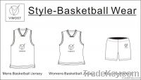 sublimation man's basketball top