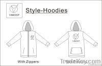 custom 100 % polyester hoodies