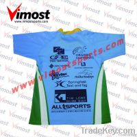 sublimated printing men rugby football jersey