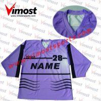Custom purple hockey jersey