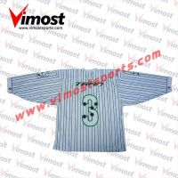 100%polyester white business suit style hockey jersey