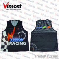 100% polyester custom running singlet uniform with sublimation