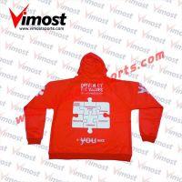 Red dye-sub hoodies