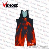 100% polyester custom wrestling singlet
