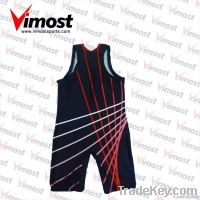 professional wrestling singlet with sublimation