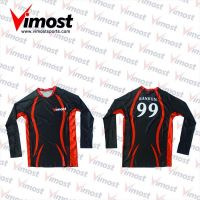 Black,red Volleyball jersey with sublimation