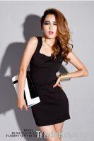 Greece Style Black Cute Prom Dress