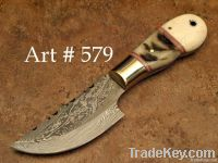 Lam horn Custom hand made Hunting Skinner knife