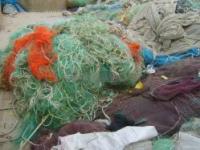 Waste fishing net scrap