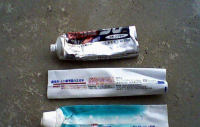 Toothpaste tube scrap