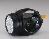 led light with usb sd slot fm rdio speaker