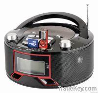 fashion boombox radio with lcd display