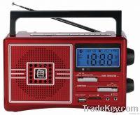digital clock portable radio mp3 usb tf card radio