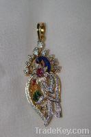 Designer peacock pendant