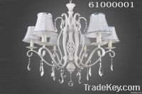 Resin and iron crystal chandelier