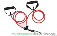 Fitness Tube Exercises, Latex Tube Exercise With Handles