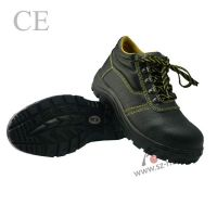 Industrial Steel toe black leather safety shoes