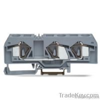 Rail-mounted spring cage clamp terminal blocks