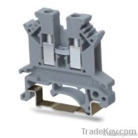 Rail-mounted terminal blocks with screw clamp