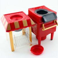 DIY Hot air popcorn maker, Electric Mini Carriage Shape Nostalgic popcorn Machine Poper Pop Corn Maker Popcorn Popper