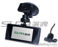 HD Touch Screen Car DVR with External Camera and G-Sensor(sp-809)