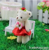 New arrival diamond jingyi dolls joint bear keychain doll