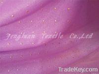 knitting chiffon fabric rubber patch plain dyed 100%polyester