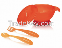 Baby Suction Feeding Bowl & Spoon Fork Set