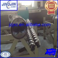 counter-rotating twin double conical screw barrel for extruder