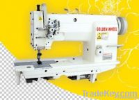flat bed sewing machine, double needle, needle feed