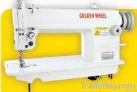 flat bed sewing machine., single needle, needle feed, lockstitch