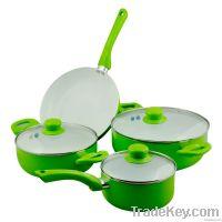 7PCS Aluminum Ceramic Cookware Sets
