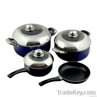 7 PCS Aluminium Non-stick Cookware Set