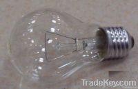 A60 E27 Iron base clear incandescent bulb