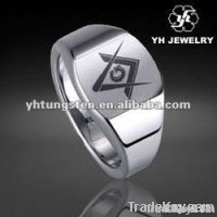 Tungsten carbide Masonic ring, Tungsten Masonic ring, Special Shape Ring