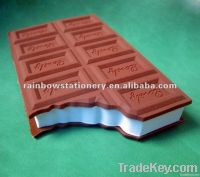 chocolate shaped sticker note
