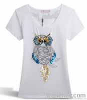 100%cotton summer women t shirts printing