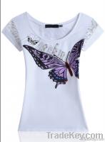 o-neck printed 2014 fashion design women t shirt