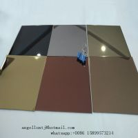 Foshan Factory 201 304 Mirror Stainless Steel Sheet with PVD Color Coated
