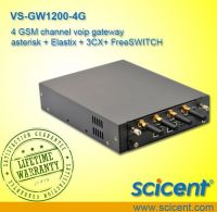 4 GSM channel voip gateway asterisk + Elastix + 3CX+ FreeSWITCH