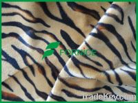 100% polyester velboa with animal design for toy/ upholstery