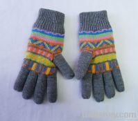 Acrylic Knitted Jacquard Glove