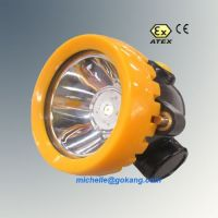 LED cordless coal miners cap lamp, mining cap lamp, miners head lamp